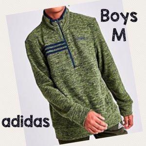 NWT Boys Adidas half zip sweatshirt - M